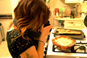 Here I'm photographing Sammi photographing food for her blog. We're so meta.