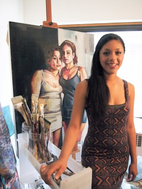 """""""My friends call me an art snob all the time,"""" Leslie says. """"I would say good art is something that has a great concept and makes you linger. I also love color, and really good workmanship."""""""