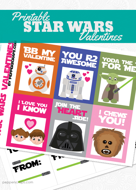 Free Printable Star Wars Valentines \u2013 Pepper Scraps