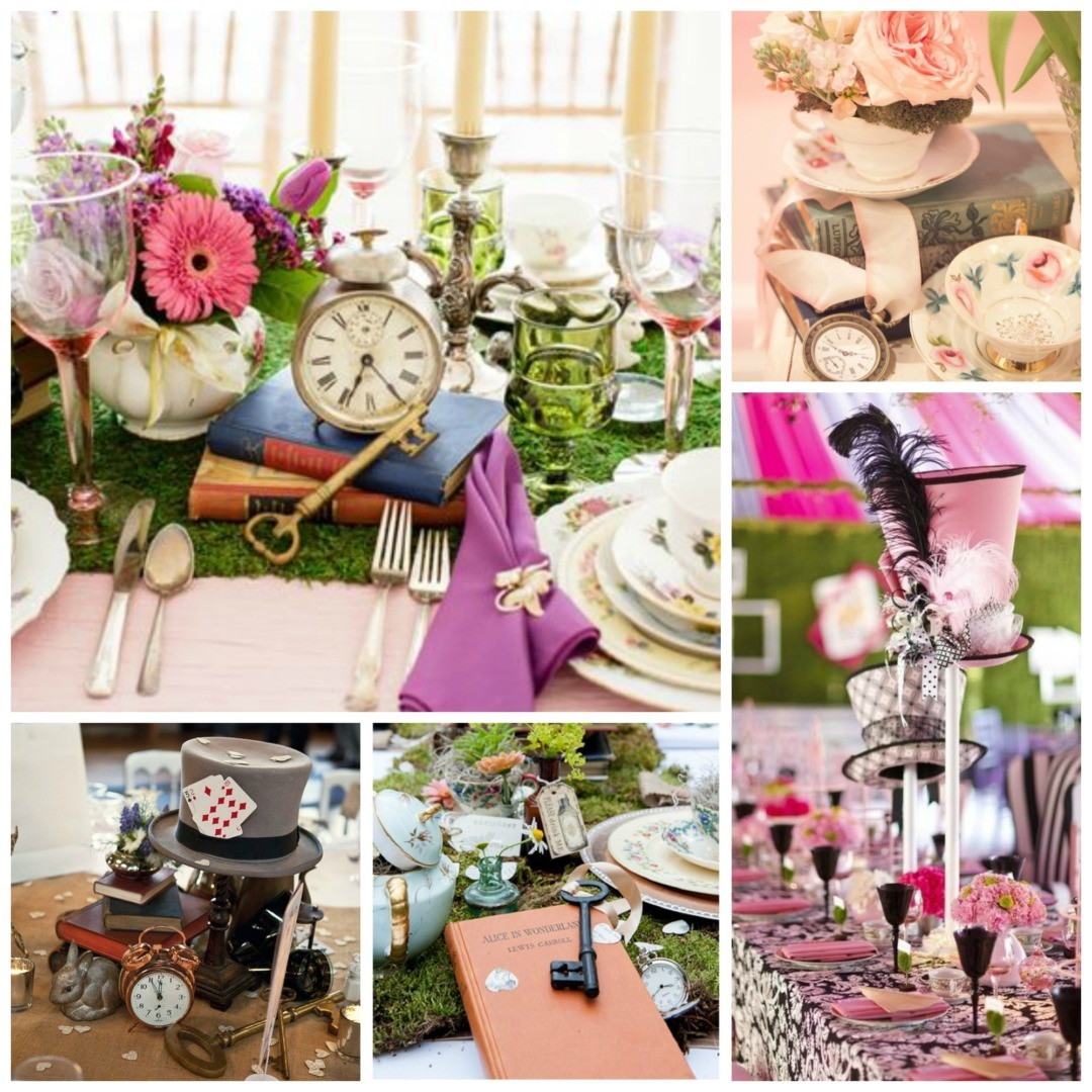 Table Decor And More Alice In Wonderland Wedding Theme Perfect Details