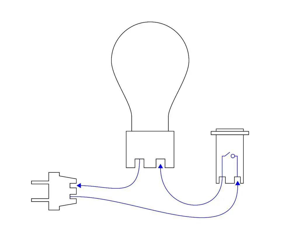 marque diagrama de cableado de lampara