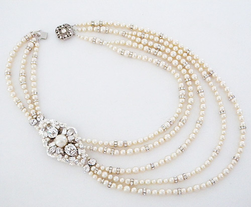 Shopping For Jewelry Cheryl King Bridal Jewelry | 5 Strand Bridal Pearl Necklace