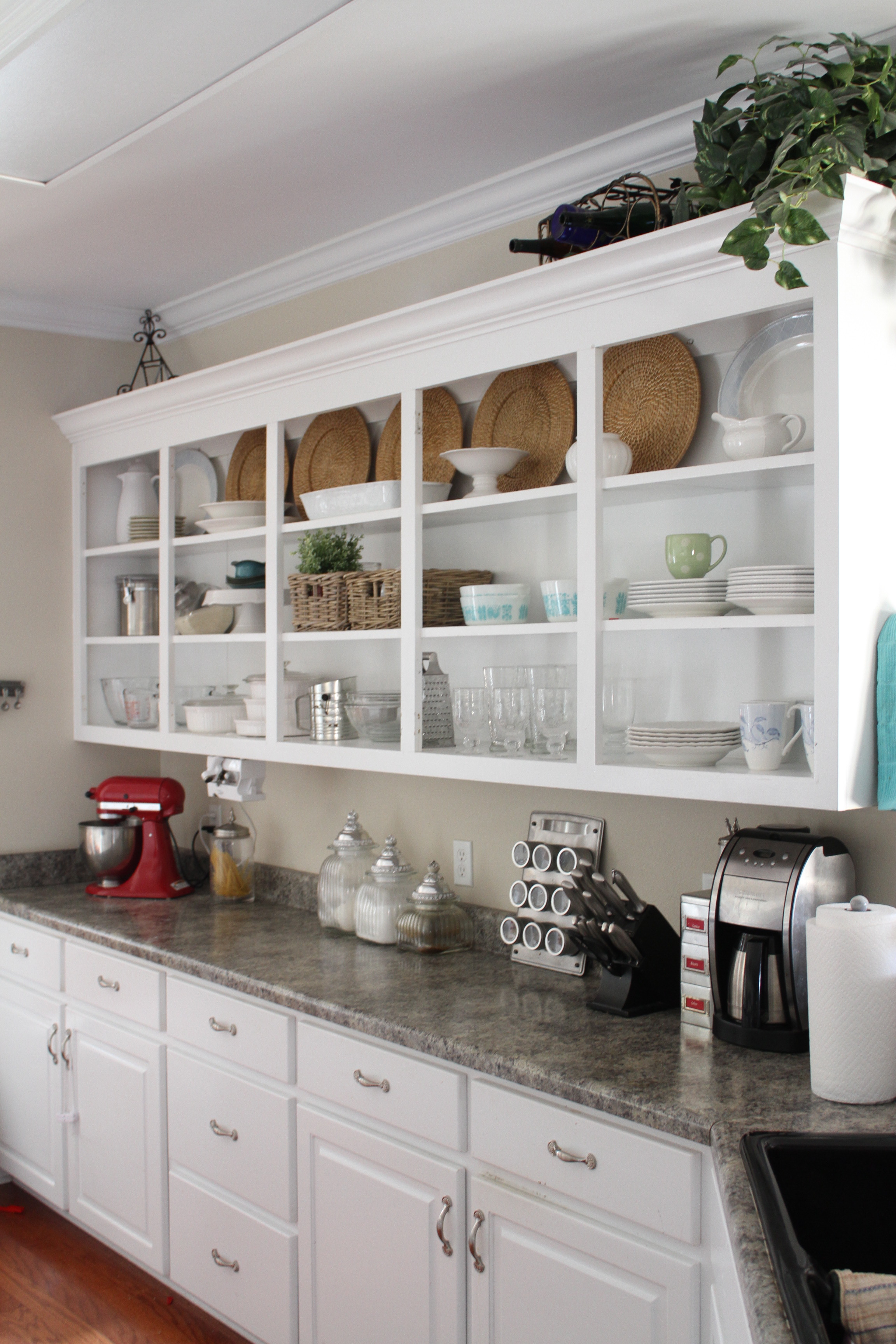Kitchen Shelves Instead Of Cabinets Cottage Style Perfectly Imperfect Blog