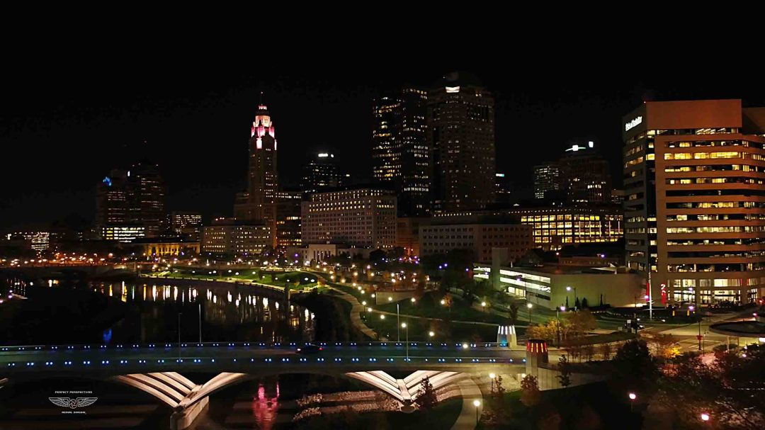 Columbus Ohio Drone Photo - Scioto Mile