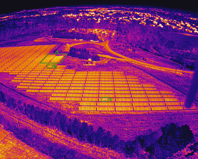 Drone Thermal Imaging Solar Array