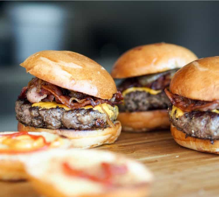 Triple Flavor Homemade Hamburgers