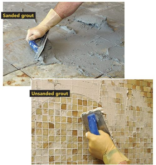 Medium Of Sanded Vs Unsanded Grout