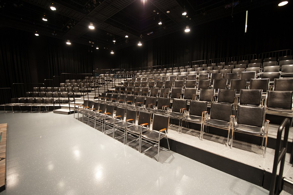 Deck Skirting Black Box Theater Seating Risers | Stageright