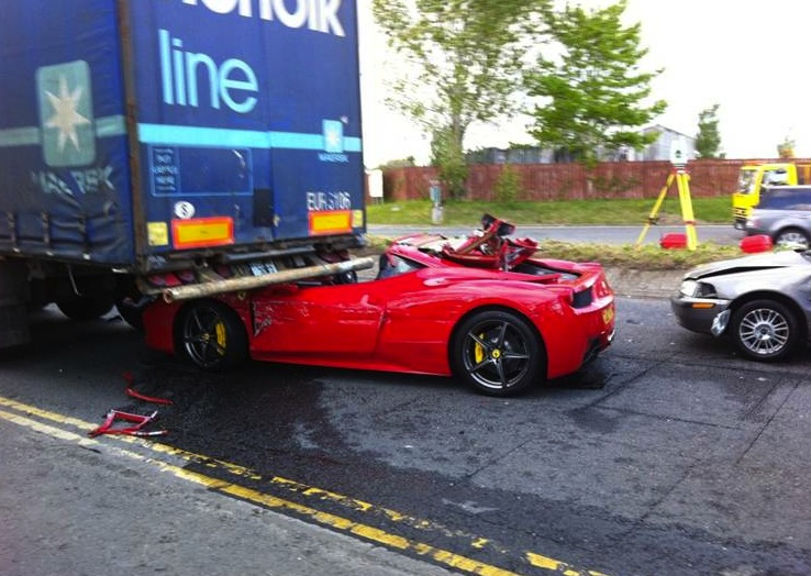 Ferrari 458 Crash In Ireland Hours After Purchase