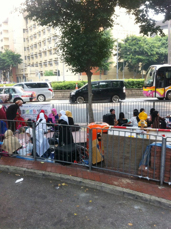 Maids day off in Hong Kong