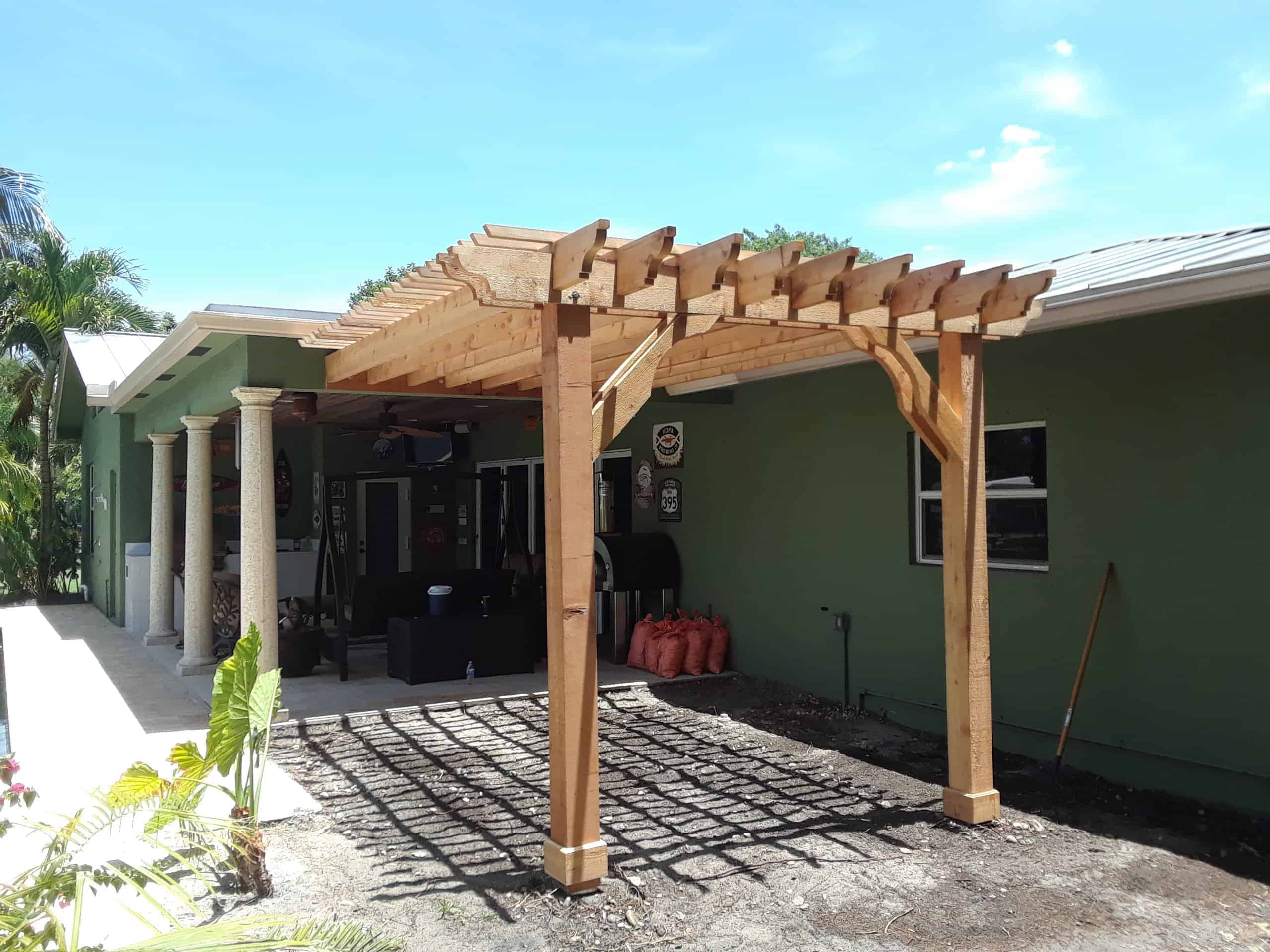 Pergola Designs Attached Pergola Designs All Sizes Of Attached Pergolas