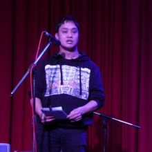Dominic Golding reading Umbilical at Identify:Adoptees Play for Change an event in conjunction with the 10th Australian Adoption Conference 2012 (Photo by Indigo Willing)