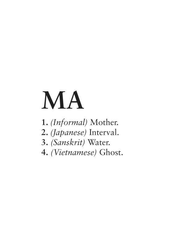 Excerpt from 'MA' by Matt Huynh