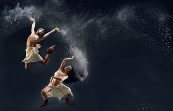 In Plain Sanskrit featuring Govind Pillai and Raina Peterson.  ​Photo: Hayden Golder Photography