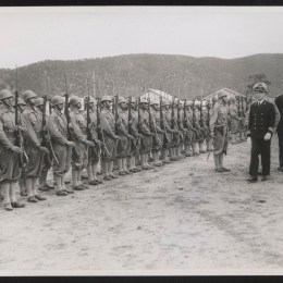 Netherlands East Indies troops on parade, inspected by Rear Admiral F. W. Coster, 1942 Nov. 18, The Leader. (www.slv.vic.gov.au)