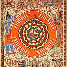 The Ten Mahavidyas, Siva and Sakti, with Serpent Coiled Shri Yantra by Toyin Adepoju (via Creative Commons http://bit.ly/1VCl3pV)