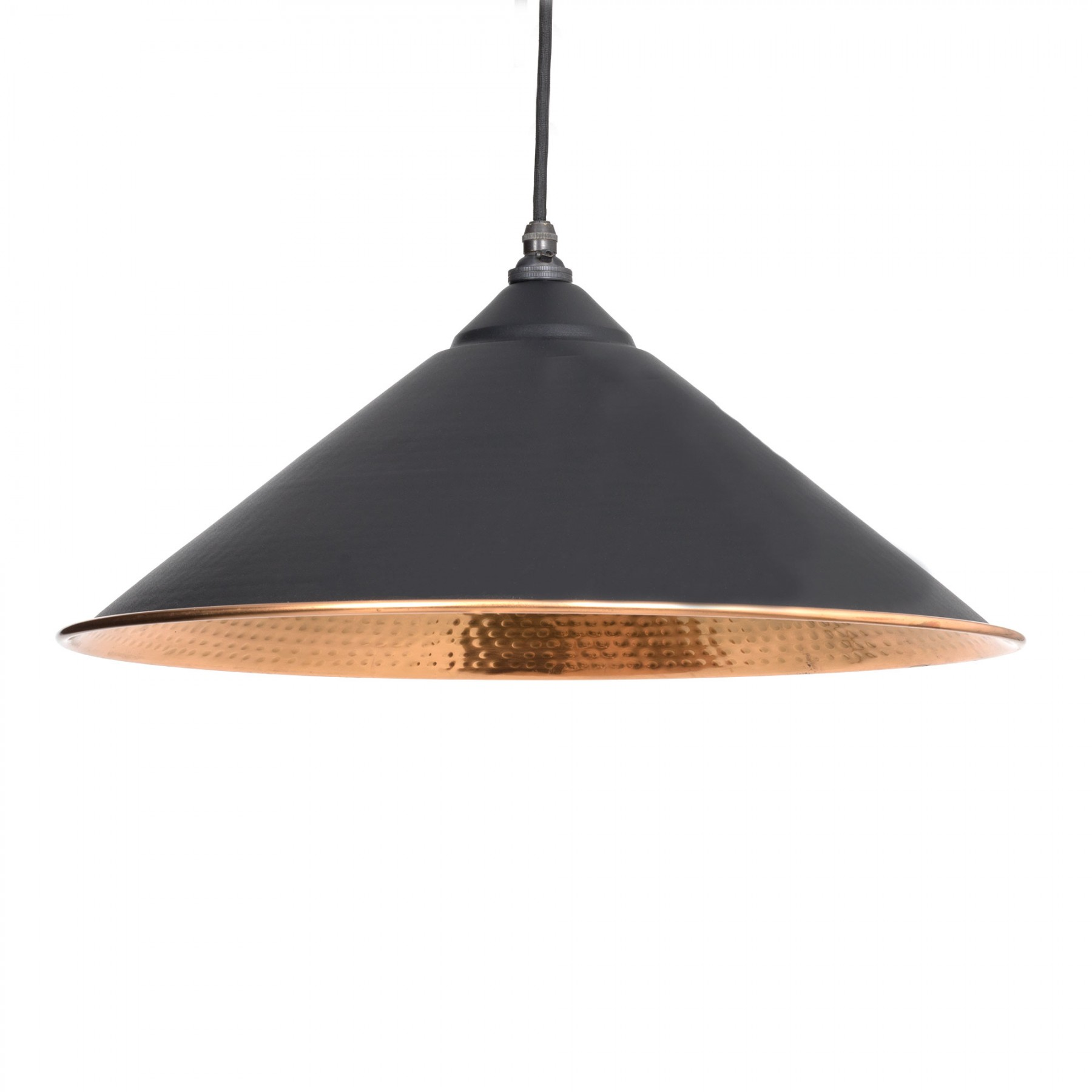 Copper Lighting Pendant Black Hammered Copper Yardley Pendant Light Period Home