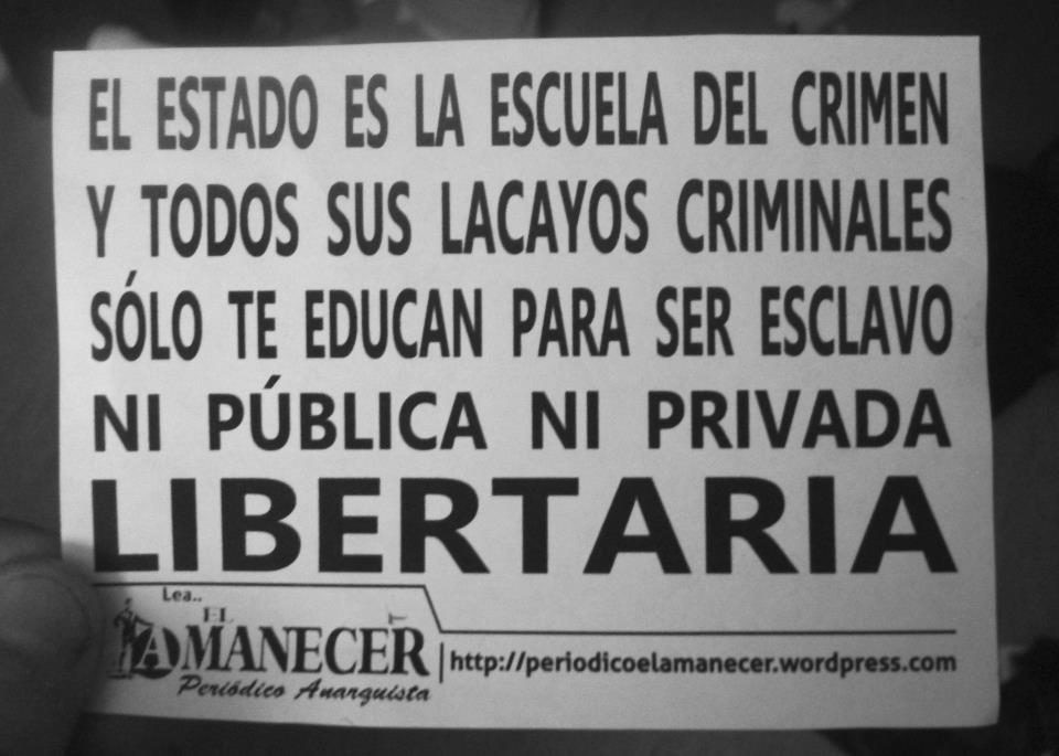 Panfleto a propósito del movimiento estudiantil Periódico