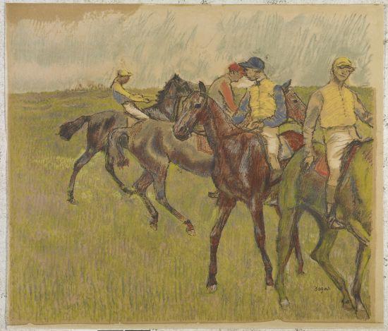 Edgar Degas: Antes de la carrera, 1895