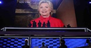 Hillary Clinton: primera candidata, augura más presidentas de EEUU