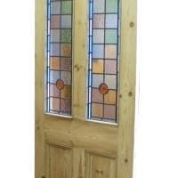 Victorian Front Doors - 4 Panel Door with Stained Glass ...