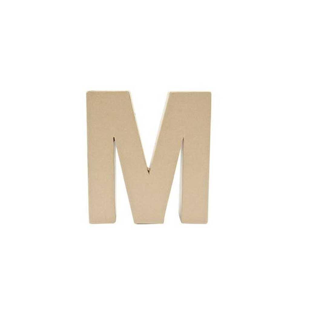17 Cm Big Papier Mache Letter M 17 5 X 17 Cm To Decorate