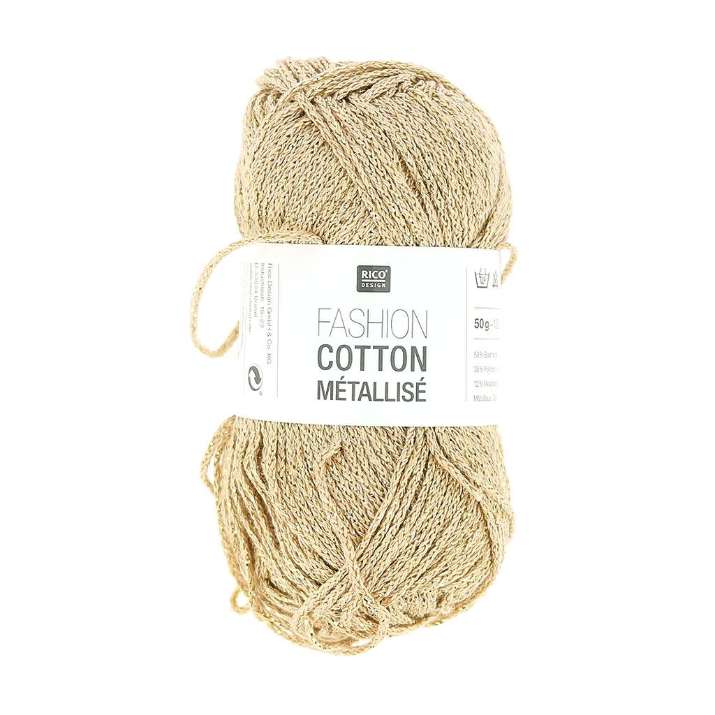 Laine Laine Fashion Cotton Metallisiert Rico Design Weißes Gold 002 X 50g