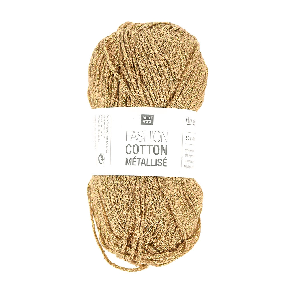 Laine Laine Fashion Cotton Metallisiert Rico Design Gold 003x 50g