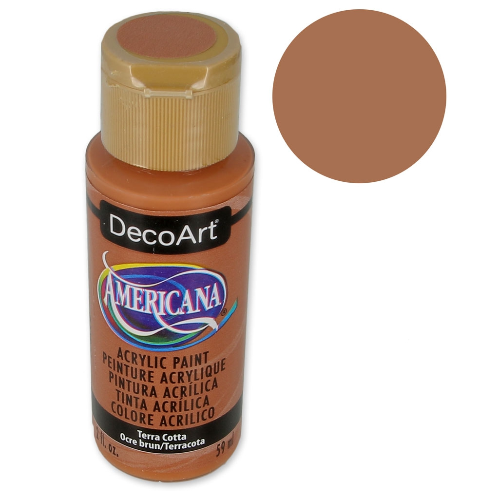 Pittura Su Vetro Tutorial Pittura Acrilica Alta Qualità Decoart Americana Terracotta X59ml