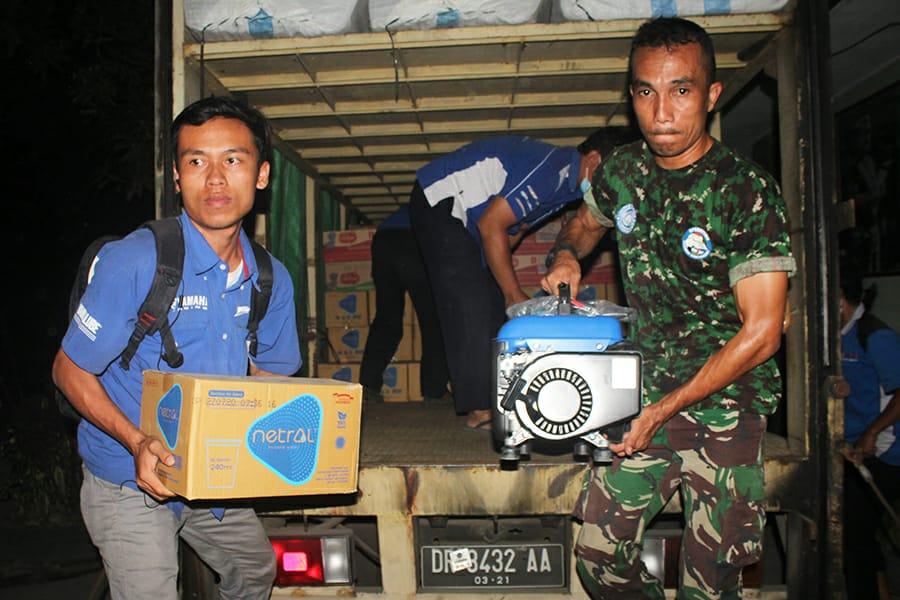 Yamaha Peduli Korban Gempa Lombok, Genset & Bantuan Lainnya Siap di Salurkan