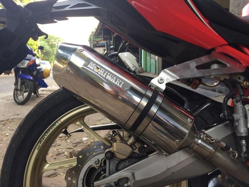 Modifikasi Honda CBR250RR Knalpot