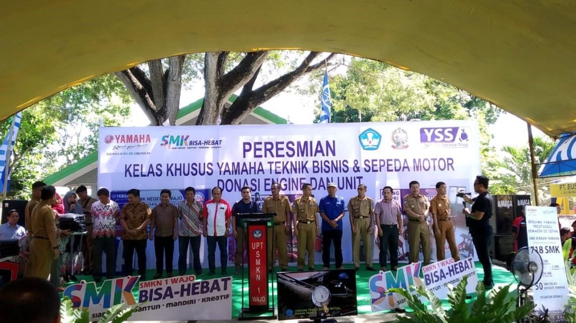 Kelas Khusus Yamaha di Sulawesi Selatan Diresmikan, YIMM Serius Dukung Pengembangan Pendidikan