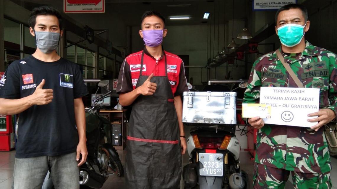 Yamaha DDS Jabar Berikan Layanan Service Gratis Untuk Petugas Medis, Polisi, TNI & BNPB