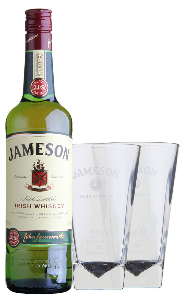 Whiskey Set Jameson Irish Whiskey Set Mit 2 Gläsern