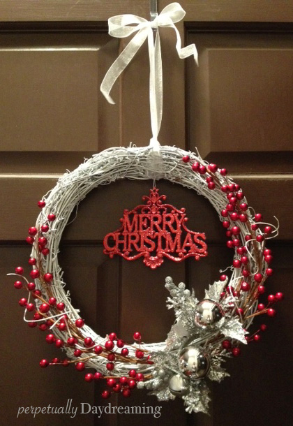 Our sparkling silver and red christmas decor perpetually for Red and silver christmas decorations