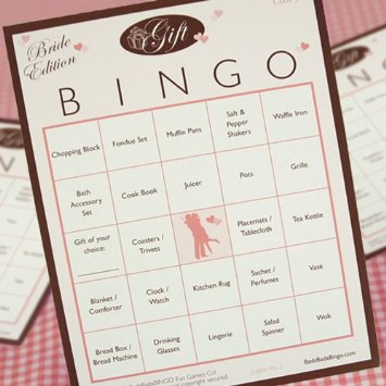 Our Bingo Cards looked something like this. Source