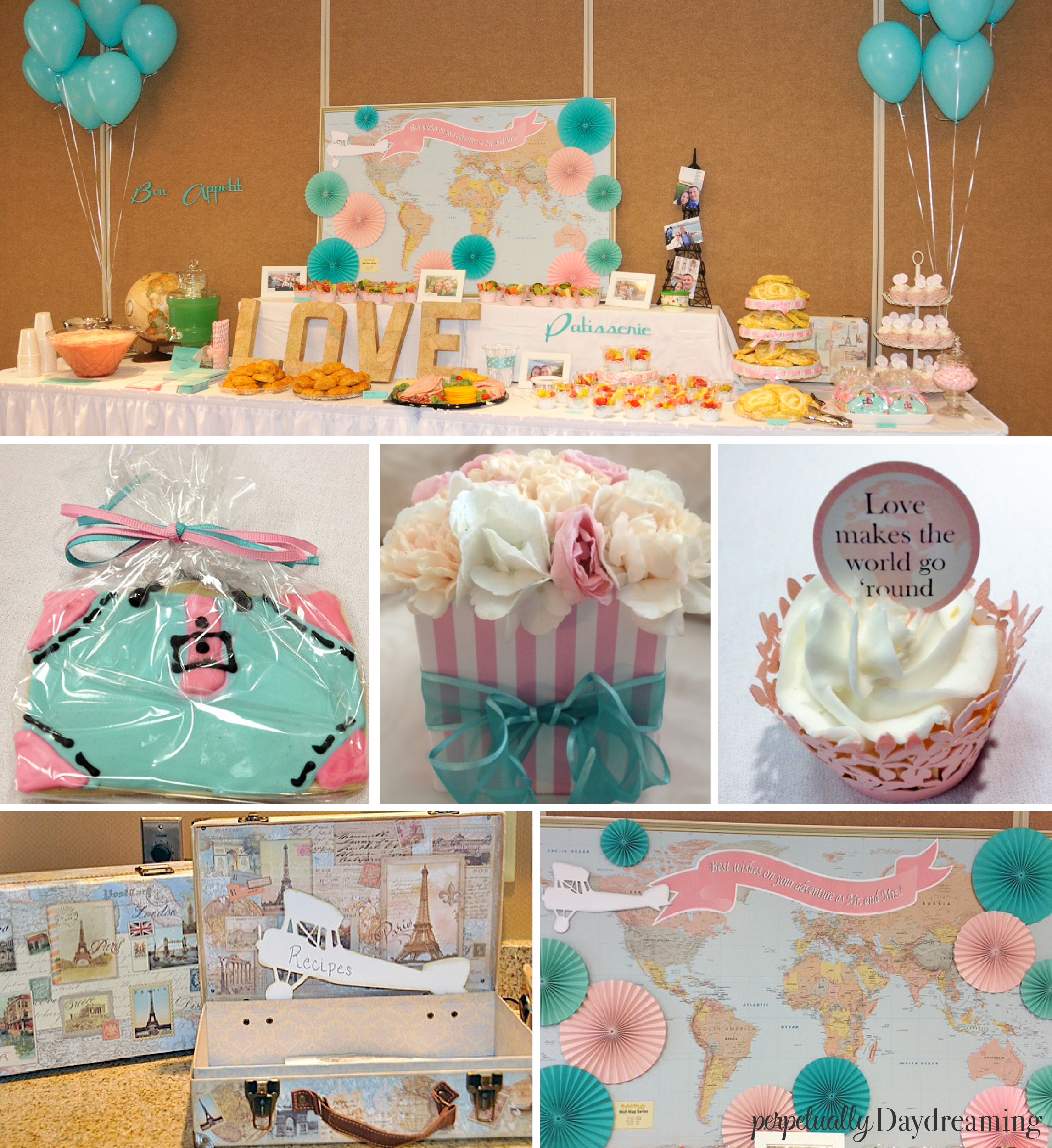 Travel Theme Ideas My Travel Themed Bridal Shower Perpetually Daydreaming