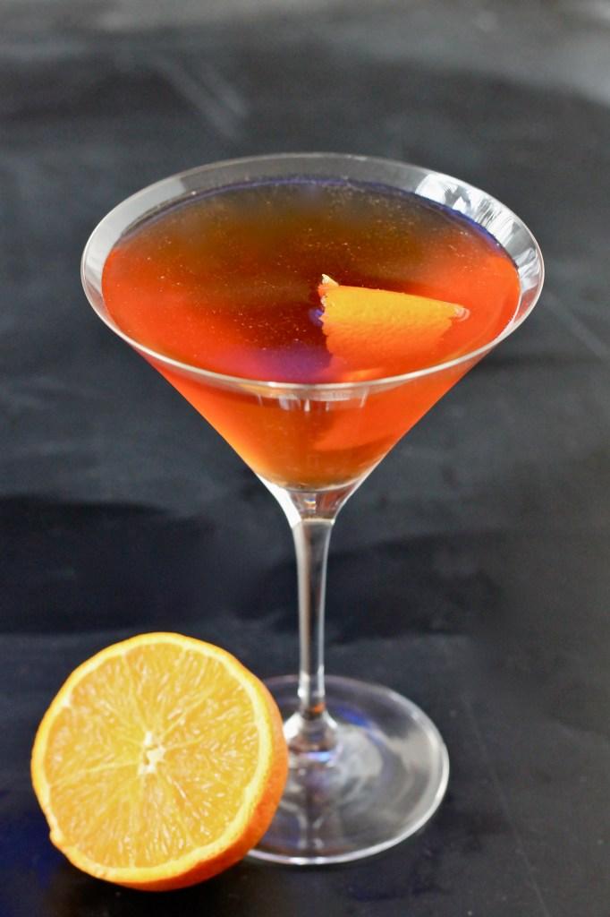 applejack cocktail and homemade grenadine