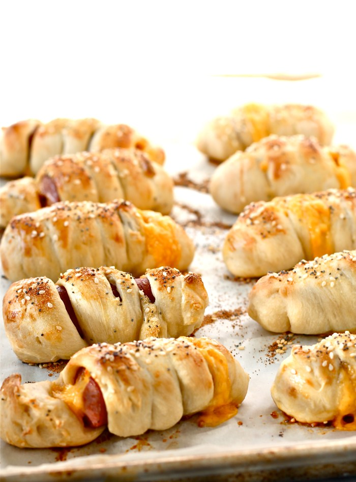 mini bagel dogs with cheese