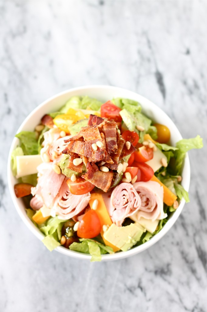 Chopped Salad with Bacon Buttermilk Dressing