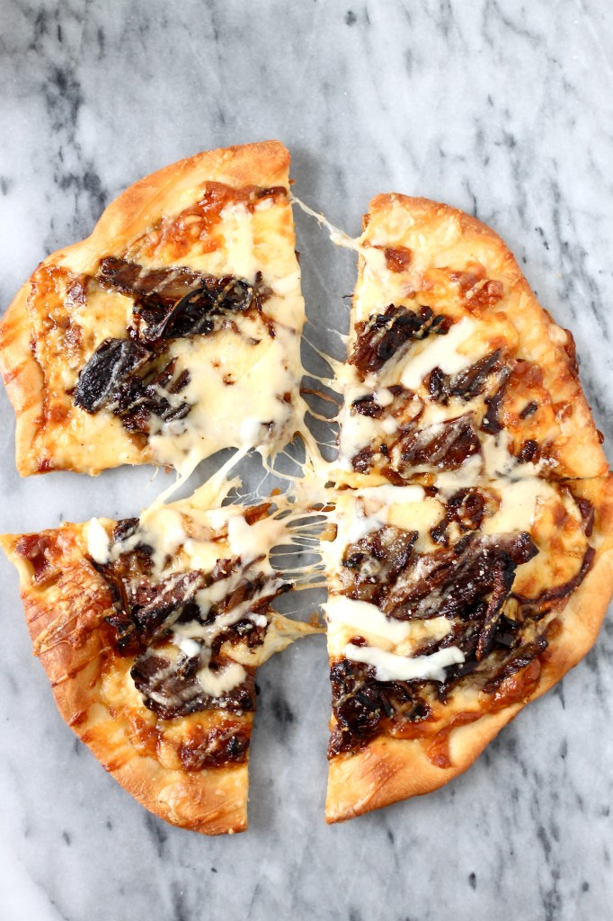 Short Rib Pizza with Smoked Gouda Cream Sauce
