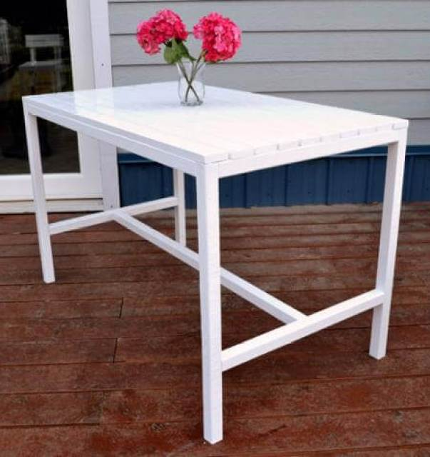 Harriet dining table ana white for Modern dining table plans