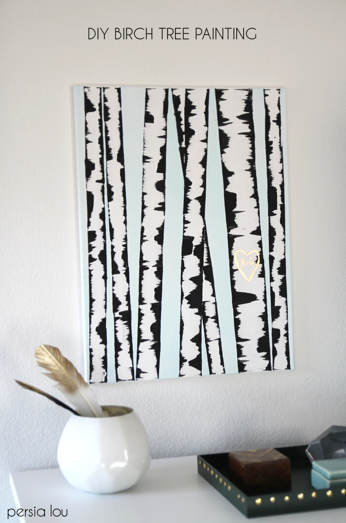 Birch Tree Fall Wallpaper Close Up Easy Diy Art Ideas And Wall Decor Projects Persia Lou