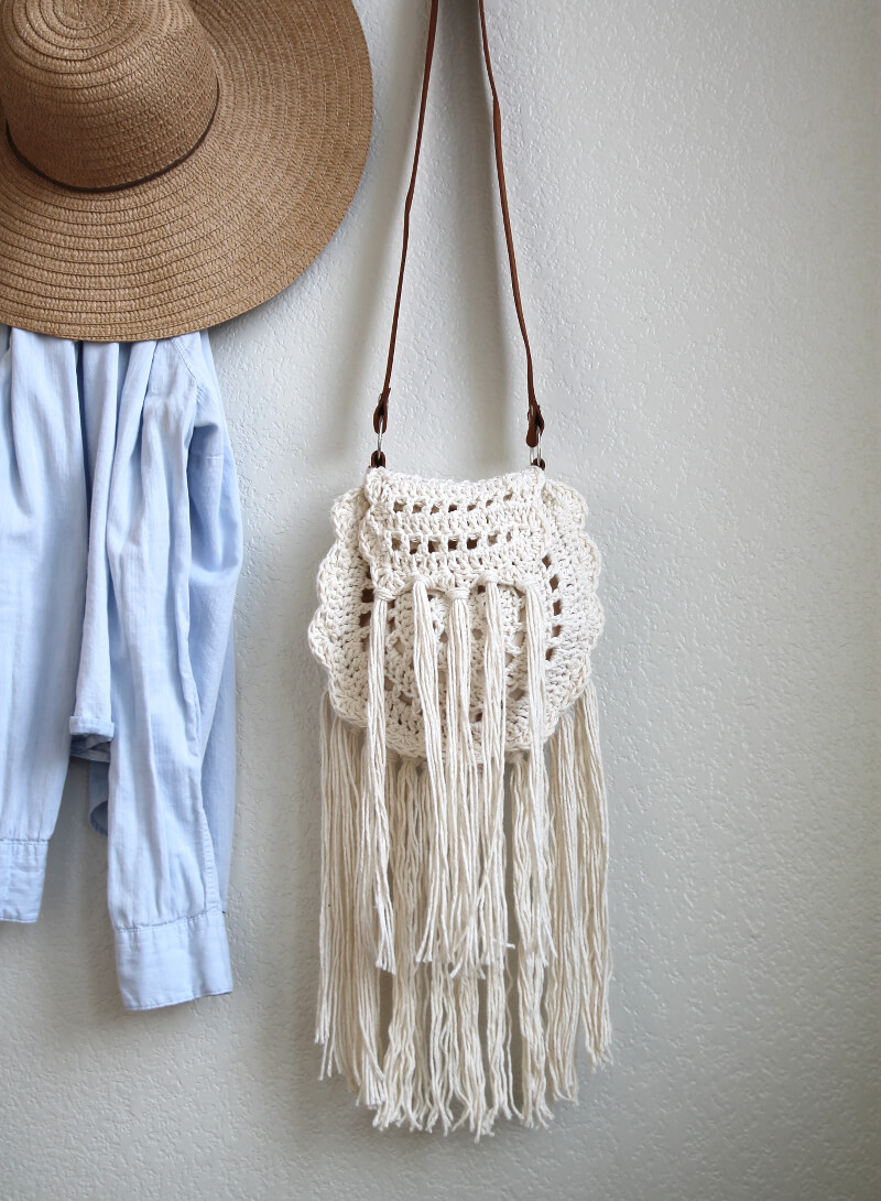 Boho Crochet Patterns : boho tassel crochet bag pattern