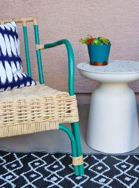 Simple Patio Chair Upgrade - Painted Rattan Chairs ...