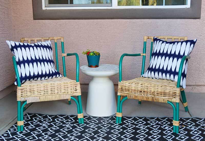 Painted Rattan Furniture Simple Patio Chair Upgrade Painted Rattan Chairs Persia Lou