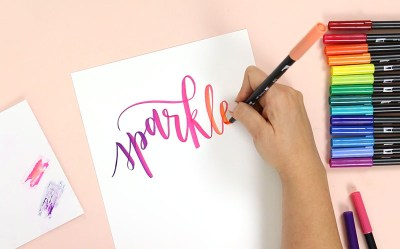 Tombow Brush Lettering Tutorial: How to Blend Tombow Markers - Persia Lou