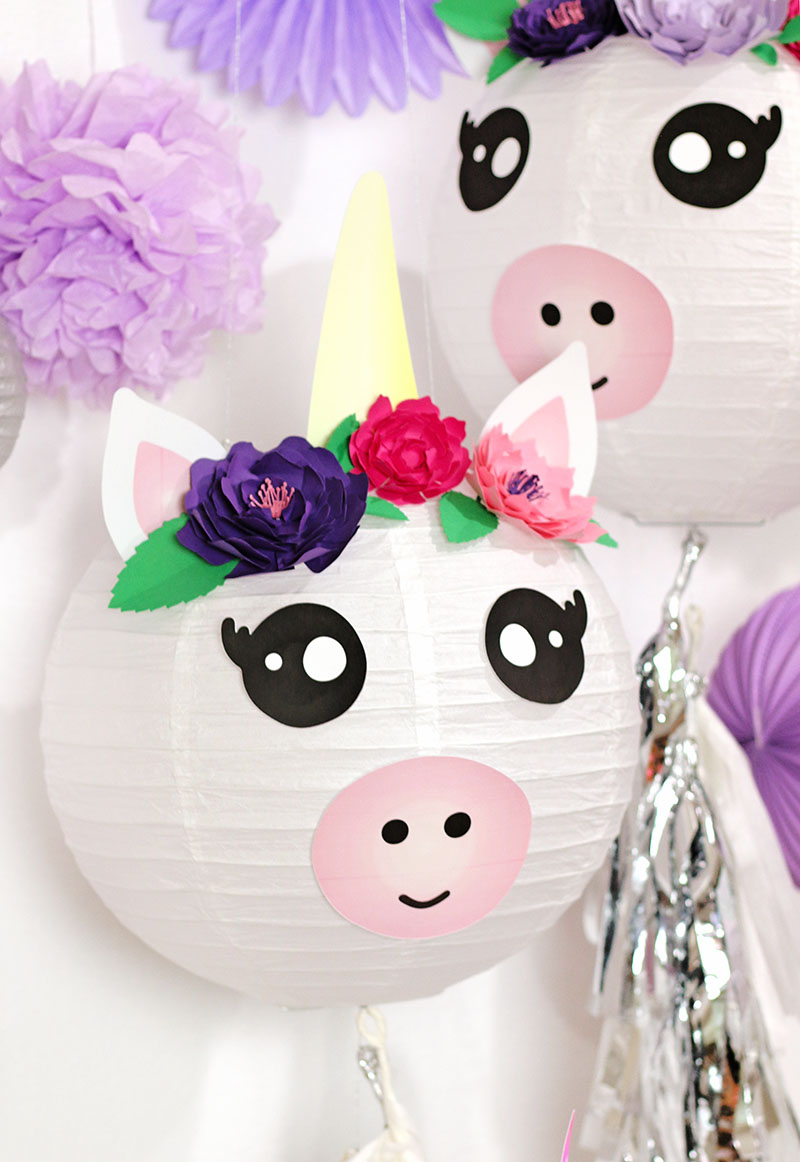 Diy Party Diy Unicorn Paper Lantern Party Decorations Persia Lou