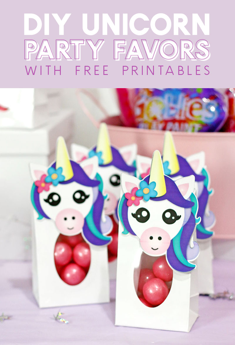 Diy Party Diy Unicorn Party Favors Free Printables Persia Lou