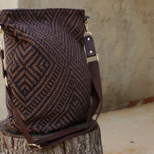 Brown Upholstery Diaper Bag